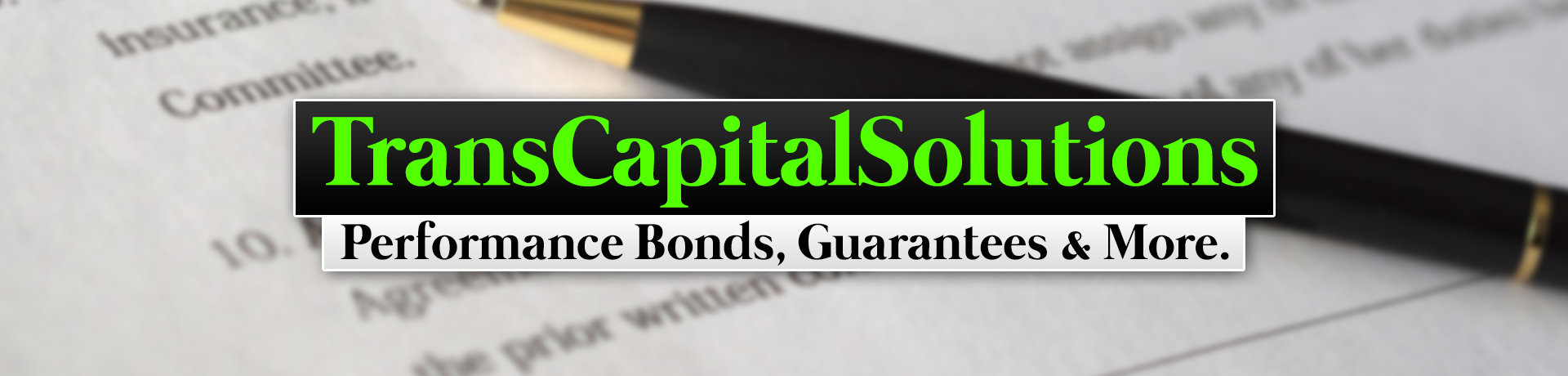 TransCapitalSolutions Performance Bonds